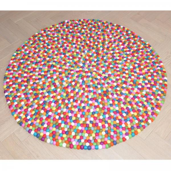 tapis de boules en laine multicolor elephant multico bopompon. Black Bedroom Furniture Sets. Home Design Ideas